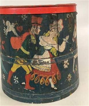 Dutch Style Hand Painted Storage Bucket