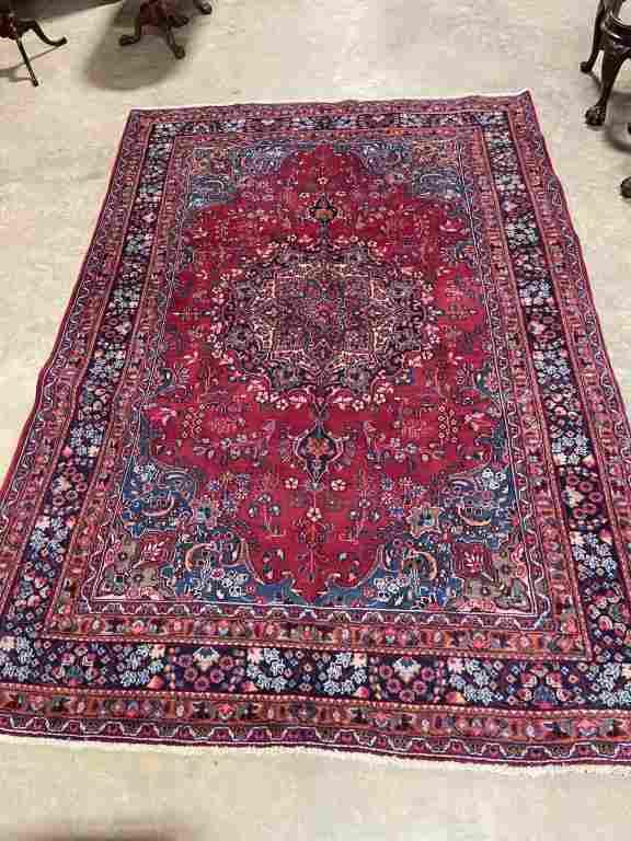 Hand Woven Persian Mashad Rug