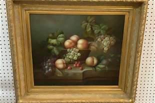 Oil on Canvas Still Life Fruit