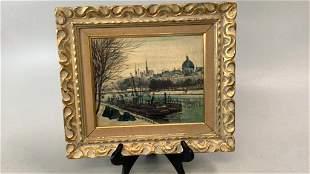 Oil on Canvas, View of Paris