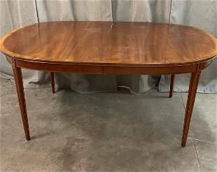 Inlaid Mahogany Dining Table