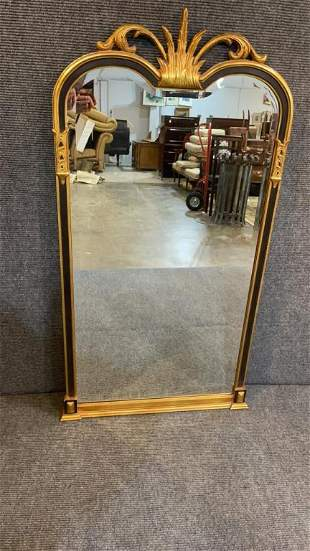 Gilded And Painted Decorative Wall Mirror