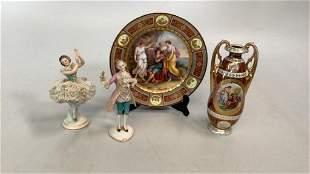 4 Pieces Decorative Porcelain