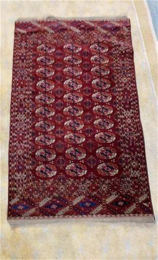 2 vintage Hand Woven Rugs