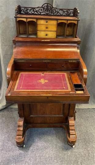 Burl Walnut Davenport Desk