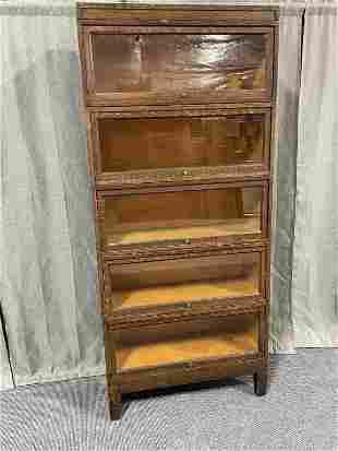 5 Stack Tiger Oak Lawyers Bookcase