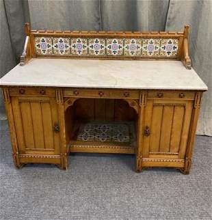 European Birch Candy Table/Cupboard