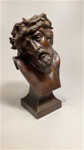 Bronze Bust of Christ, Crown of Thorns