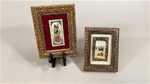 2 Persian Miniature Paintings