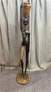 Bronze Nubian Statue