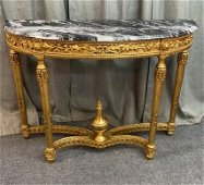 Gilded Carved Rococo Console Table