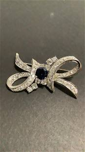 Antique Ladies Bow Design Brooch