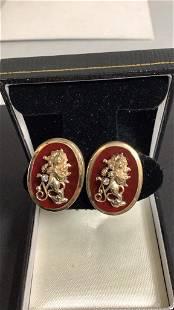 Pair 14K Earrings