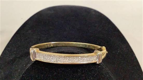 18K Yellow Gold, Diamonds Bracelet