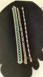 3 Tennis Bracelets set in Sterling