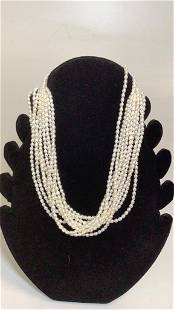 Freshwater Pearl Necklace, 14 k Clasp
