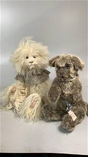 2 Wendy Brent Hand Crafted Animals