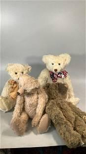 4 Hand Crafted Teddy Bears