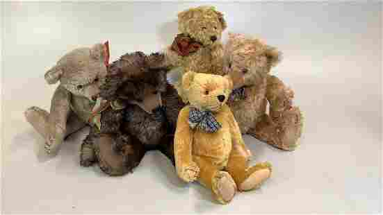 5 Hand Crafted Bears