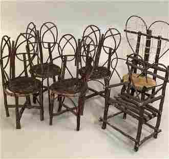 6 Pieces Twig Doll/ Bear Furniture