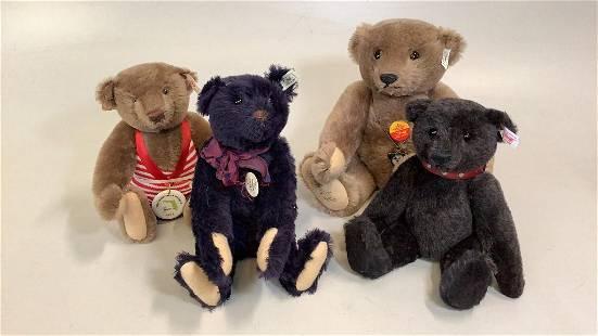 4 Steiff Limited Edition Bears