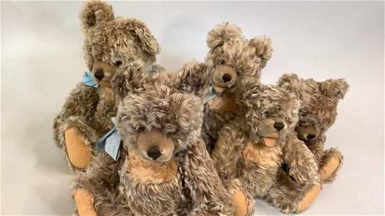 5 Steiff Zotty Bears