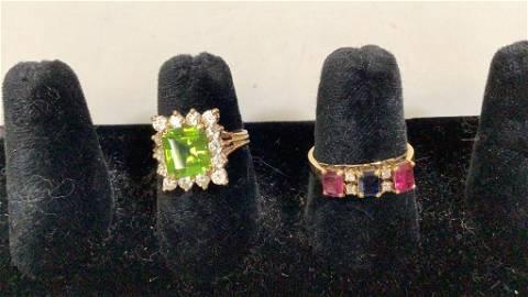 2 - 14 K and Gemstone Rings