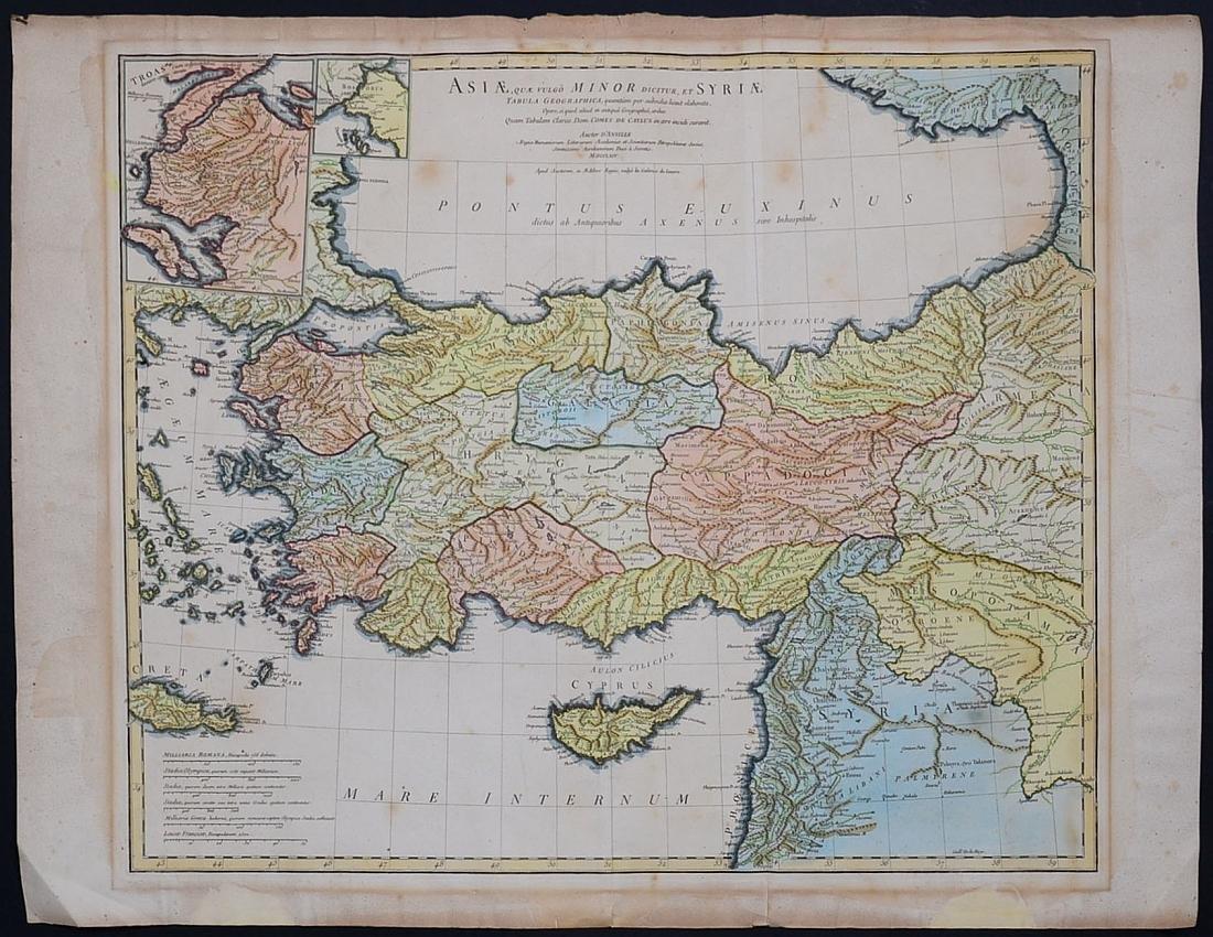1764 Asia Minor Turkey and Syria Map