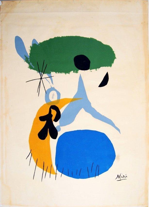 Joan Miro Painting On Paper