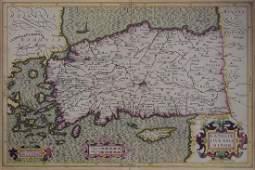 16th century Natolie Sive Asie Minor Mercator Map