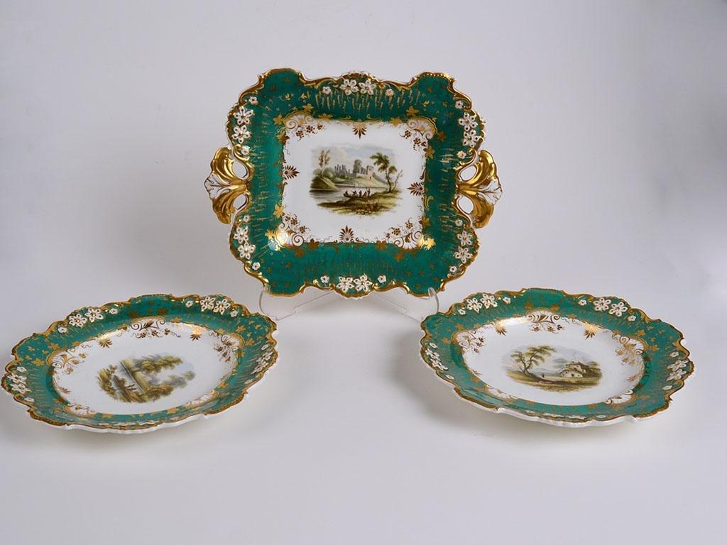 19th Century Davenport English Porcelain Plates