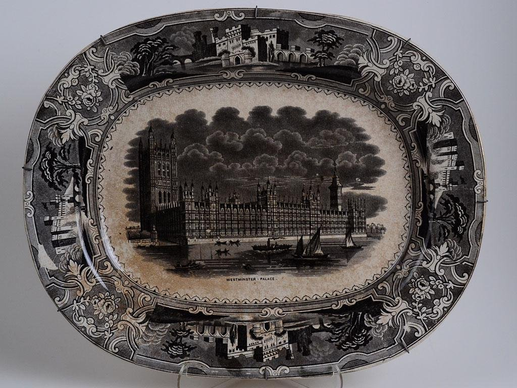 19th C. English Porcelain  Plate Westminster palace