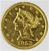 1853-C $5 GOLD
