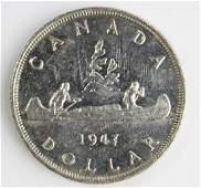 1947 CANADA SILVER DOLLAR
