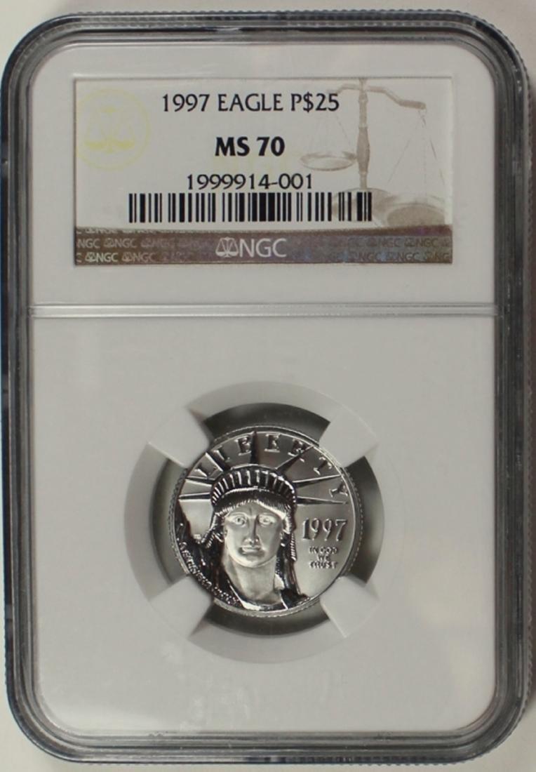 1997 $25.00 PLATINUM EAGLE