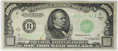 1934 A $1000.00 BILL