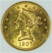 1907-D $10 GOLD LIBERTY