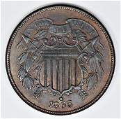 1865 TWO CENT PIECE