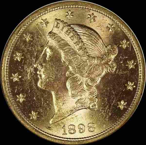 1898 $20.00 LIBERTY GOLD