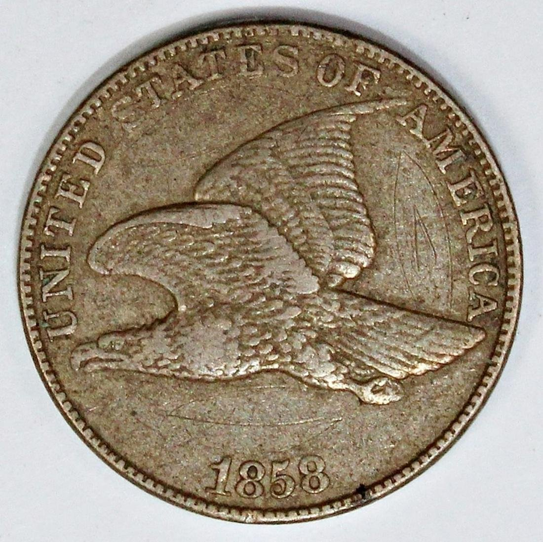 1858 LARGE LETTERS FLYING EAGLE CENT