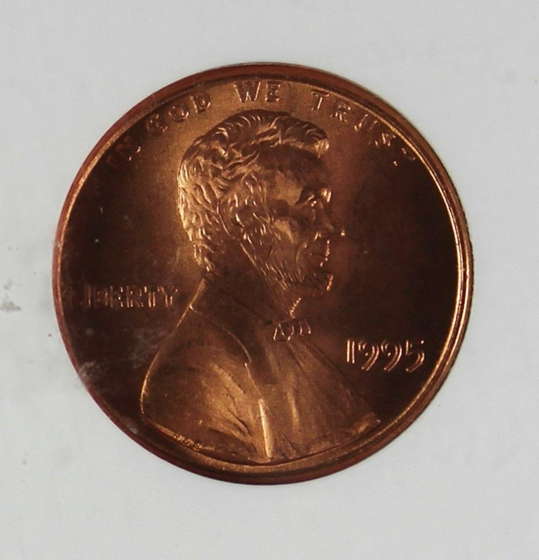 1995 DOUBLE DIE OBVERSE LINCOLN CENT