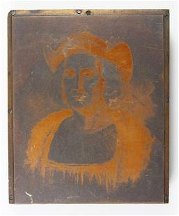 ORIGINAL COPPER PRINTING PLATE CIRCA 1892
