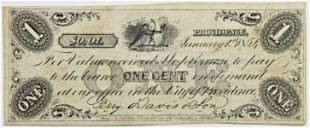 1854 ONE CENT RHODE ISLAND