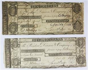 2 PIECE 1808 HILLSBORO BANK