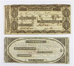 2 EARLY BANK OF WINDSOR FARMERS BANK