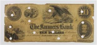 VERY RARE CAROLINA FARMERS BANK 1853 10