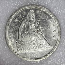 1871 SEATED DOLLAR