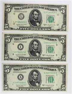 3 1950C 500 FEDERAL RESERVE NOTES