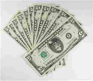 SET OF 12 1974 500 FEDERAL RESERVE NOTES