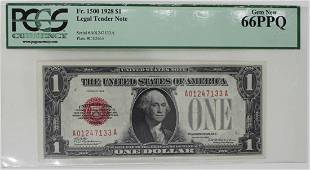 1928 FR 1500 1 LEGAL TENDER RED SEAL